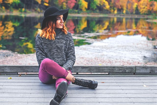 Woman in Autumn Hat