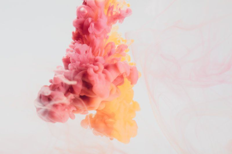 A Bubbling Cloud Of Rich Pink And Yellow