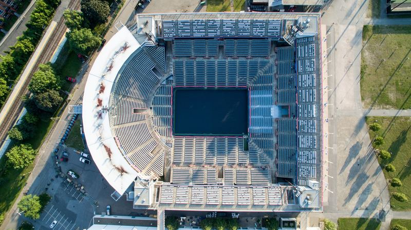 Aerial Of Stadium Arena