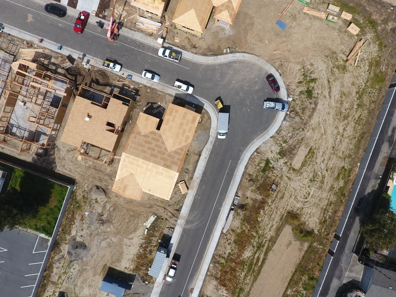 Aerial View of Vehicles on Road