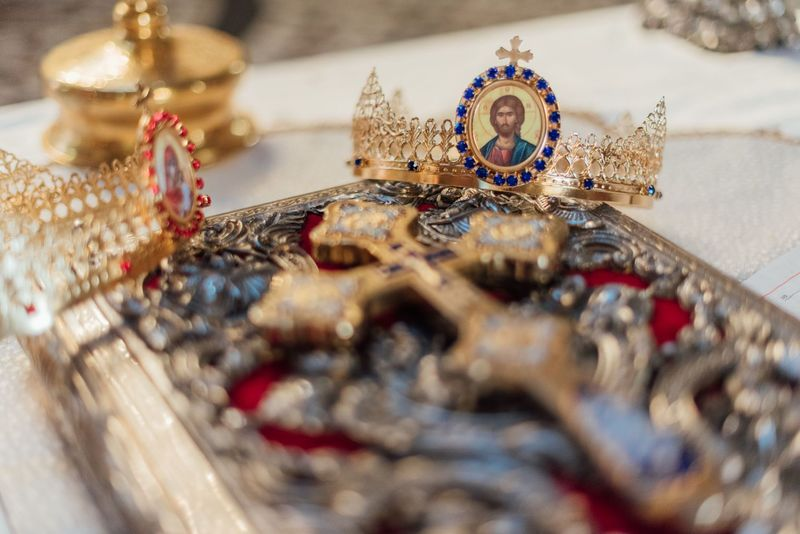 Antique Cross And Crown