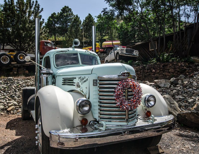Antique Trucks And Cars On Display