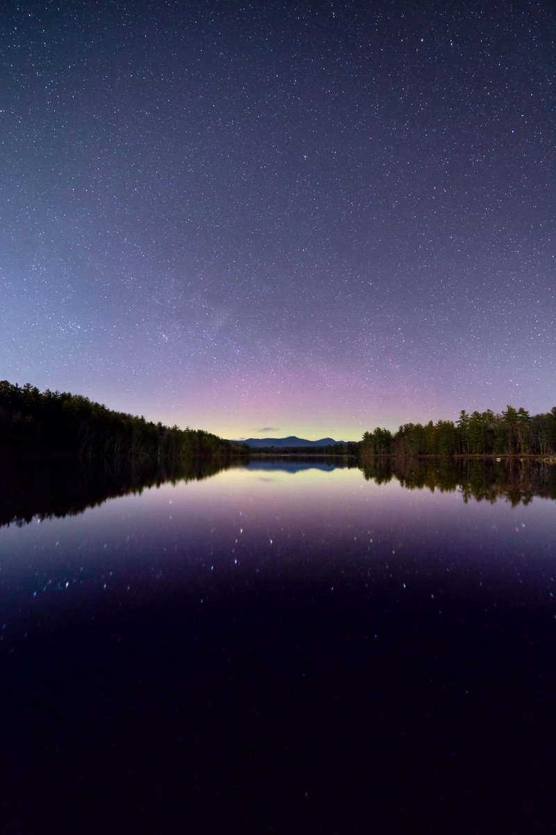Aurora Lake Reflection