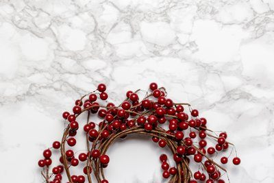 Berry Wreath On Marble