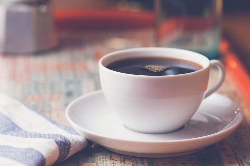 Black Coffee in Cafe