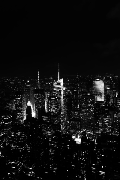 Black & White Aerial Photography Empire State Building