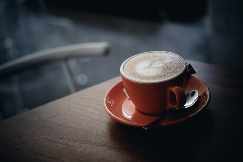 Cappuccino Coffee Cup in Cafe