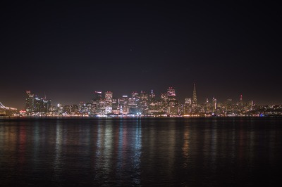 City Skyline at Night Time