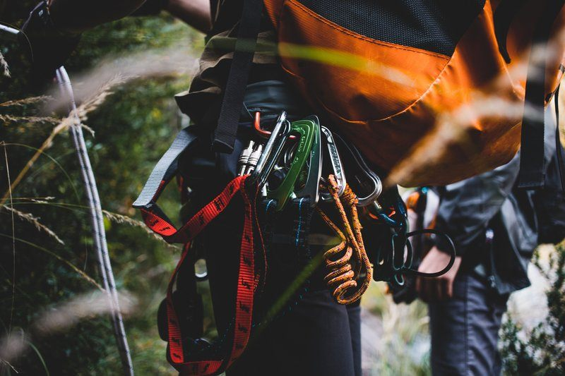 Climbers Backpack Carabiners