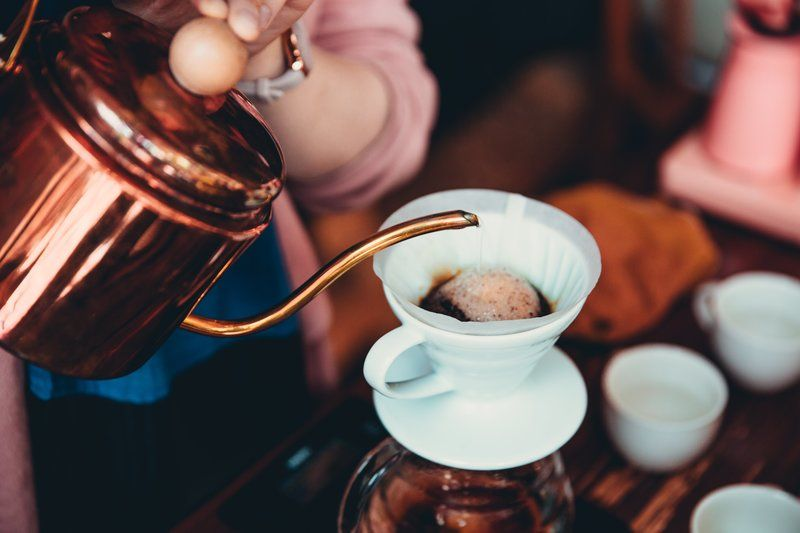 Copper Kettle Pour Over Coffee