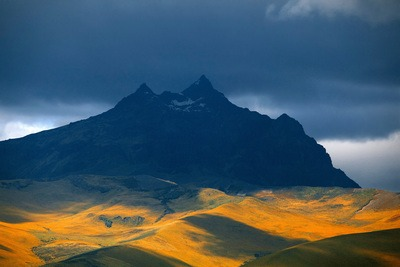 Ecuador Mountains with Stormy Sky
