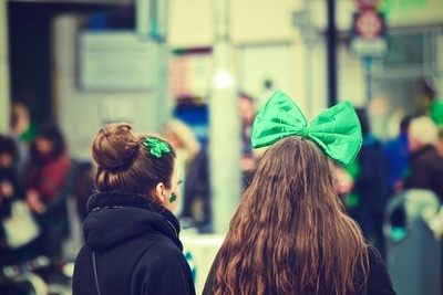 Girls Dressed For Paddys Day