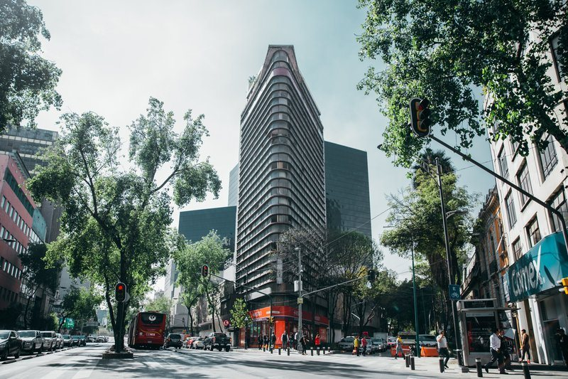 Glass Building In Tropical City