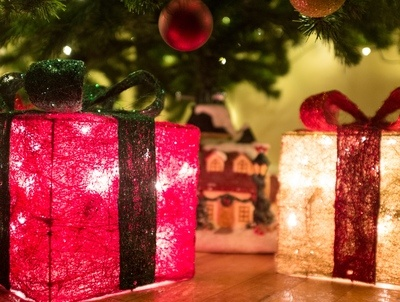 Glowing Christmas Parcel