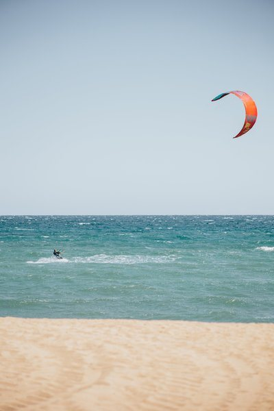 Kite Surfer In Action