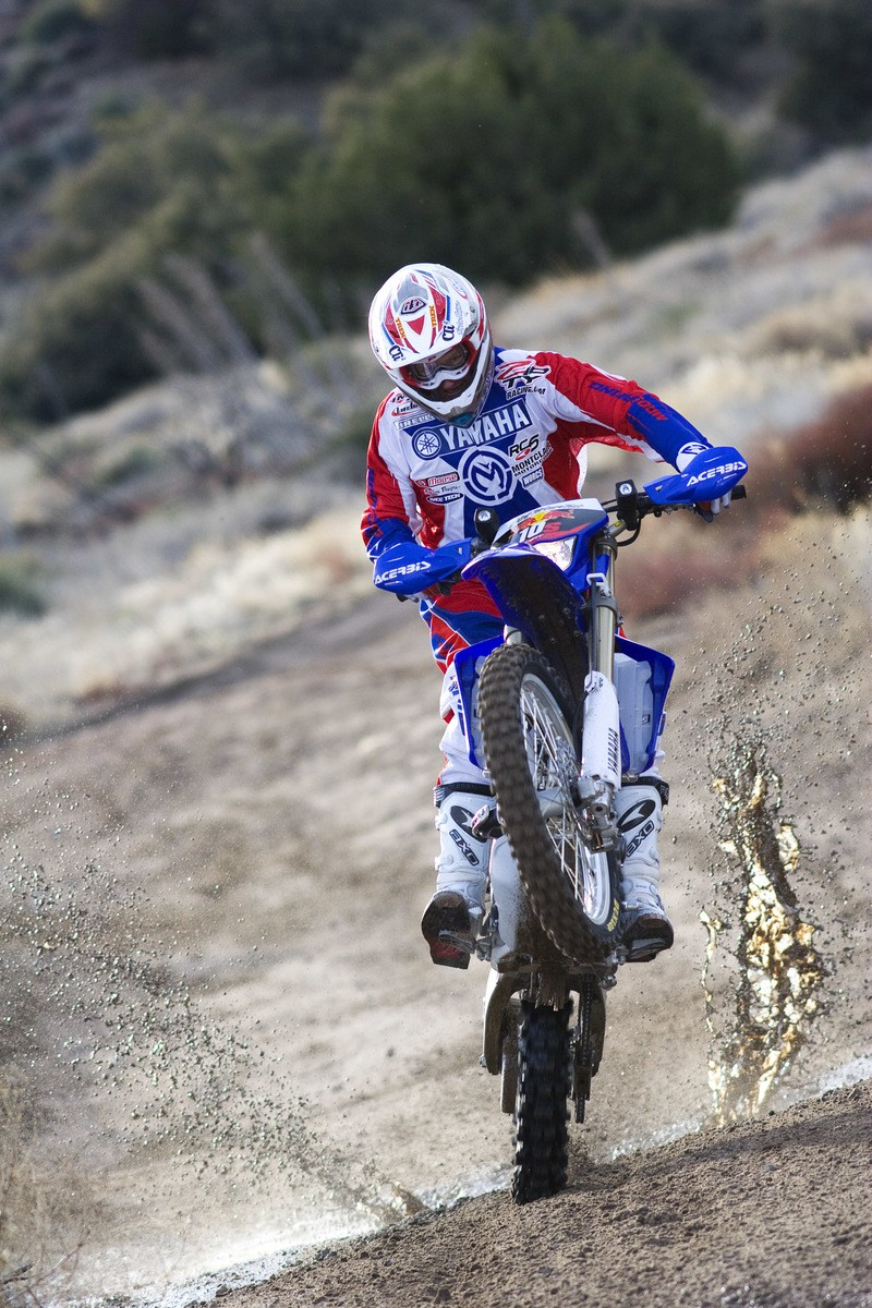 Man Riding of Dirt Bike