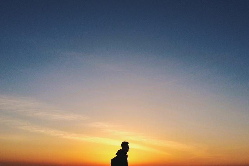 Man Silhouette at Sunset