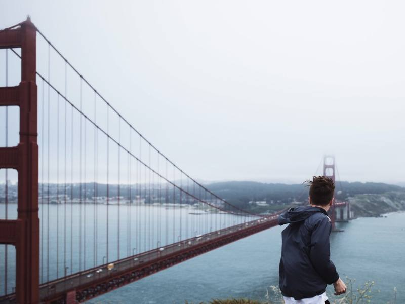 Man Standing Near Golden Gate Bridge