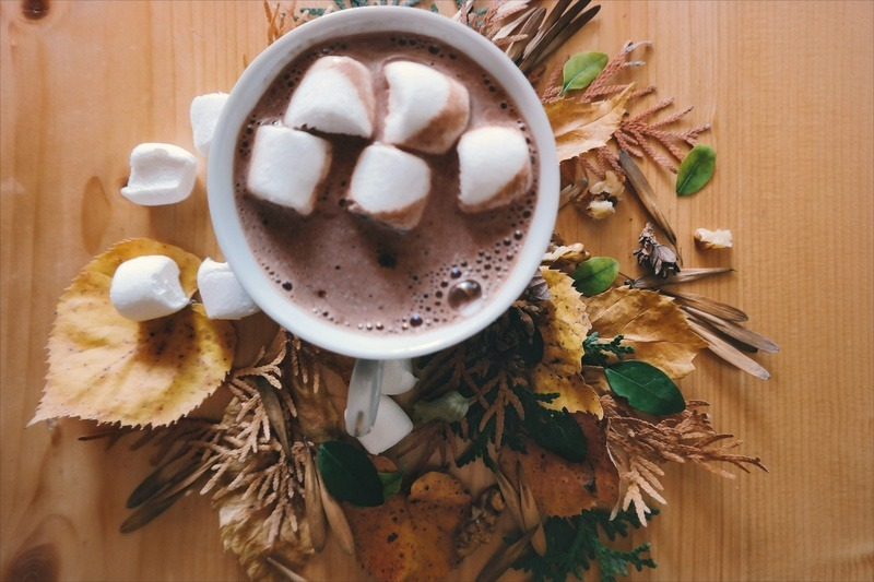 Marshmallows in Hot Chocolate Drink