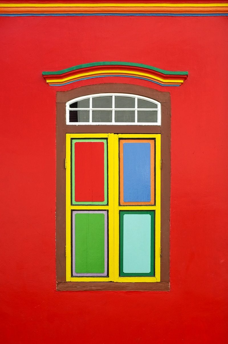 Multicolored Window Illustration