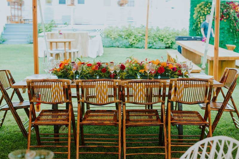 Outdoor Dining Table Dressed Up