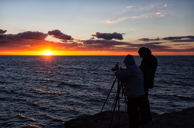 Photographers At Sunset