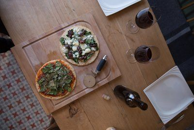 Pizza And Wine For Date Night