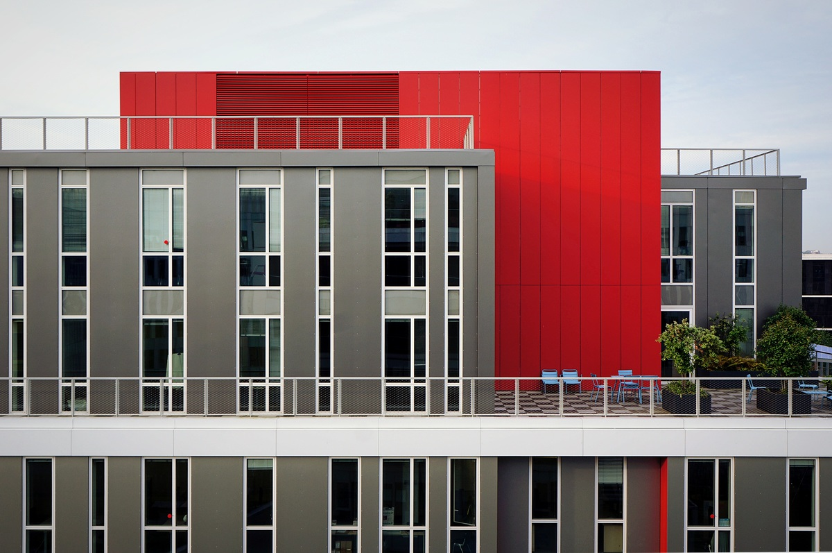 Red And Gray Building