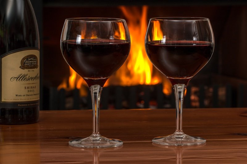 Red Wine by Fire