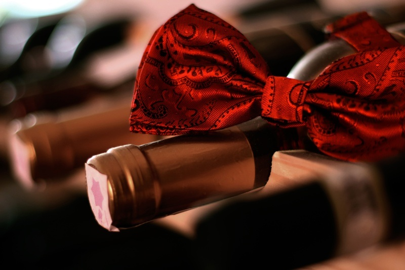 Red Wine with Bow