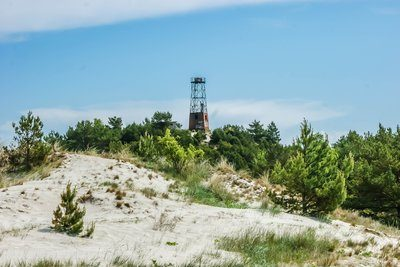 Sand Dunes And Beach Watch Tower