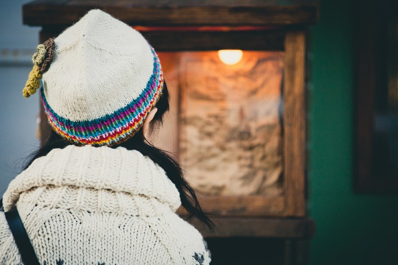 Selective Focus  Person Wearing Beanie And Sweater