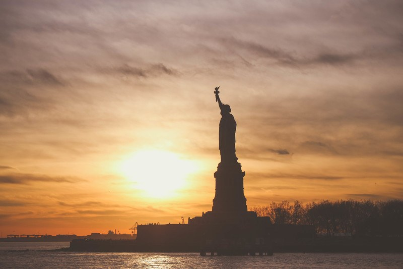 Silhouette  Statue of Liberty