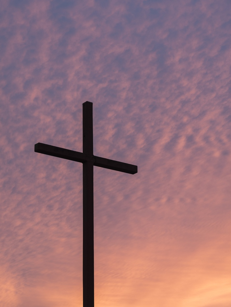 Silhouette of Large Cross