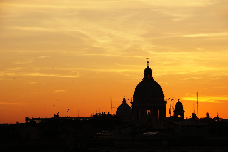 Sunset in Rome