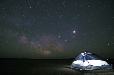 Tent at Night Time