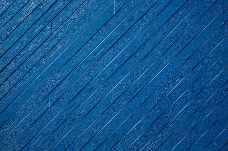 Texture Of Wood Cladding Painted Blue