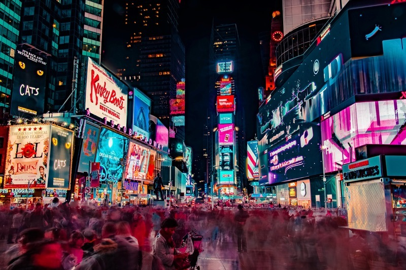 Time-Lapse Photography of Crowd of People on New York Time Square
