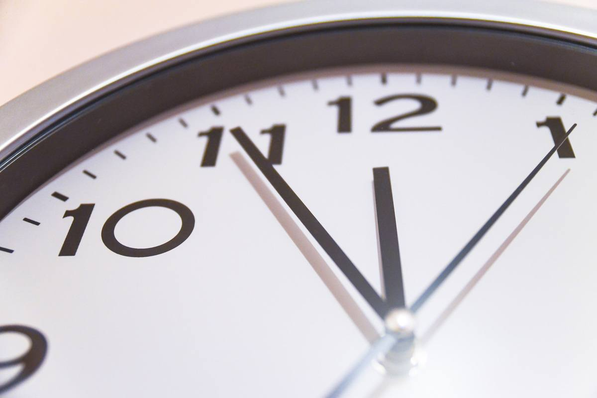 Time on Office Clock