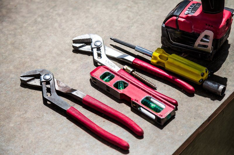 Tools Lined Up