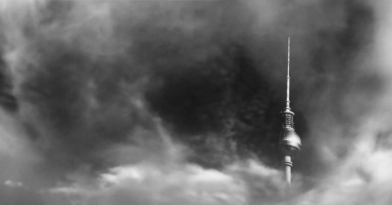 Tower Covered with Dark Clouds