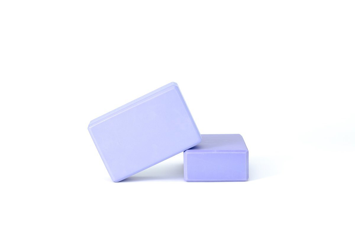 Two Purple Yoga Blocks