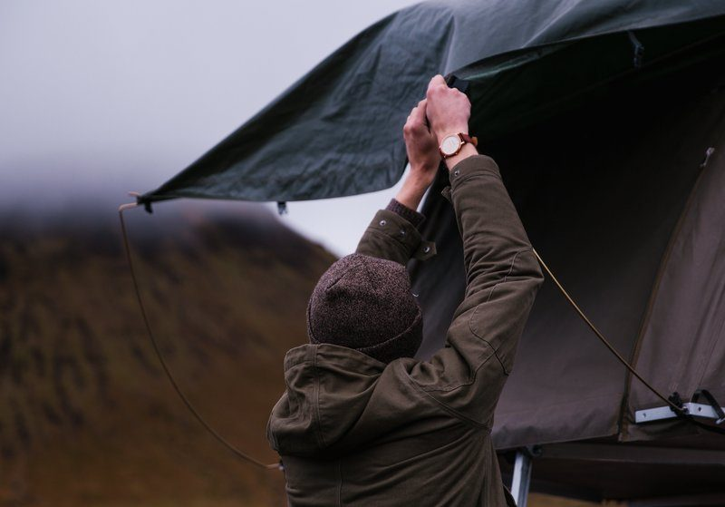Tying Down Tent Fly