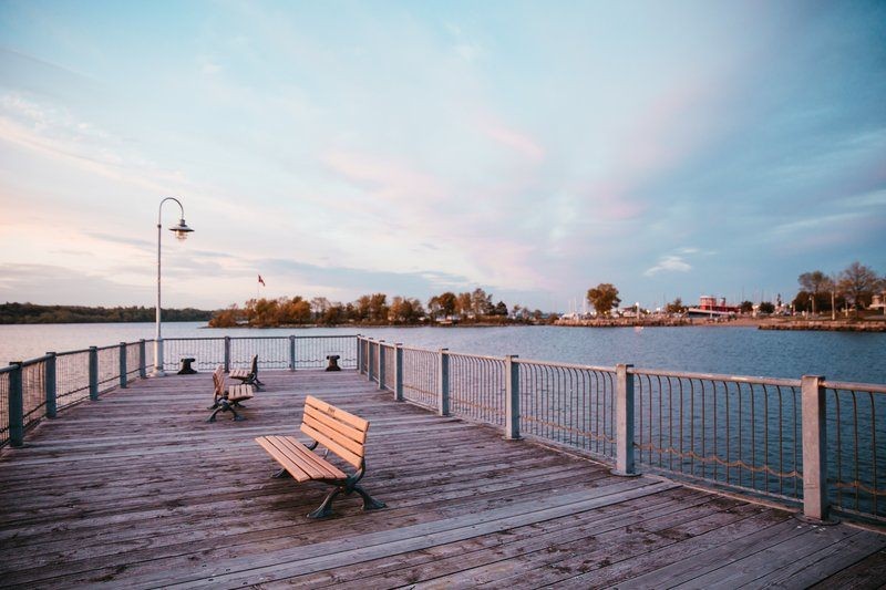 Waterfront Dock With Benches