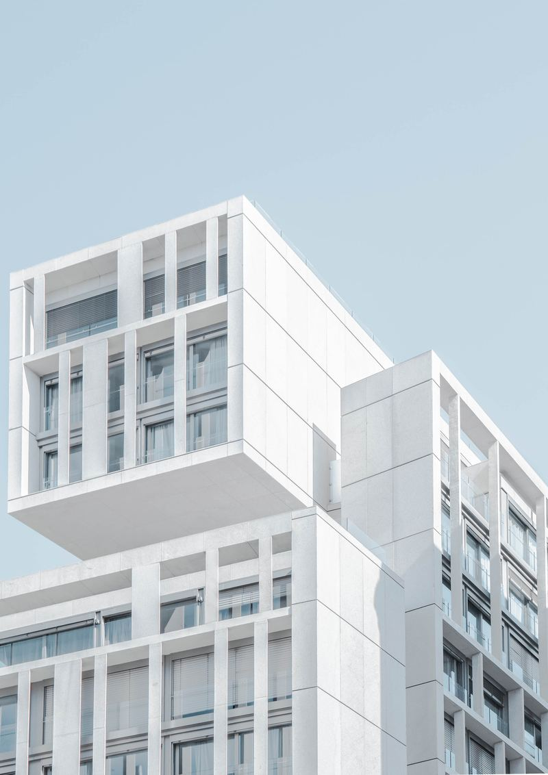 White Modern Cement Building