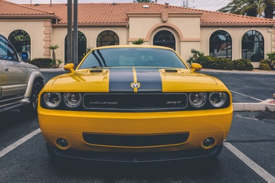 Yellow Dodge Challenger Coupe