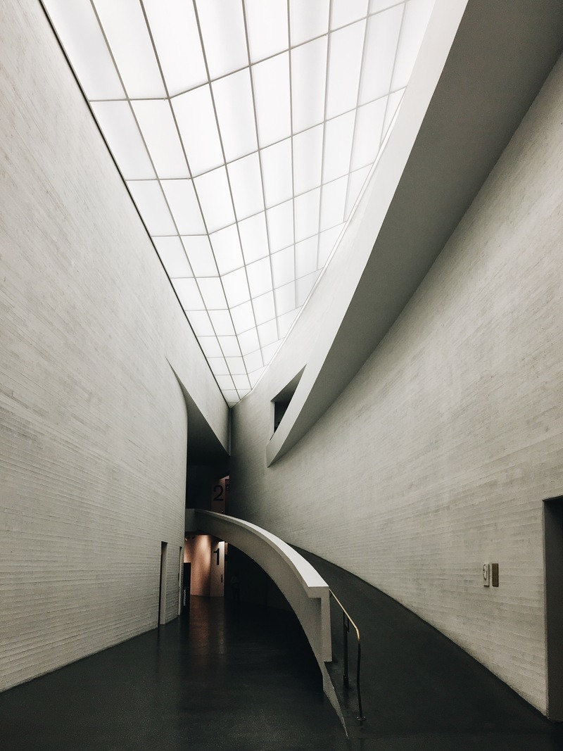 interior View of White Building